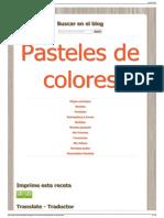 Rosquillas de Alcala ~ Pasteles de colores2
