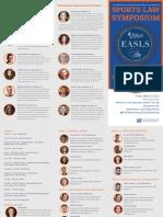 2015 UF Law Sports Law Symposium Brochure