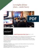 Political Heavyweights Debate Thailand's Future… Under Heavy Scrutiny