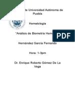 hematologia biometria hematica (caso clinico)