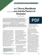 Mandibular Movement and the Factors of Occlusion