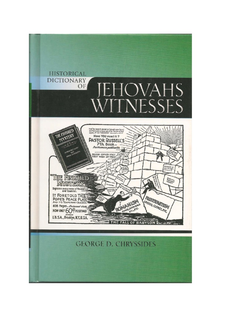 Historical Dictionary of Jehovahs Witnesses