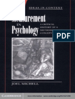 Measurement in Psychology-A Critical History of a Metodological Concept