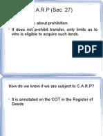 CARP Report