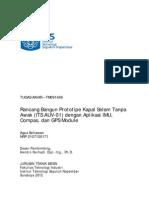 ITS Undergraduate 20467 Rancang Bangun Kapal Selam Tanpa Awak Its Auv 01 Dengan Aplikasi Imu Kompas Dan Gps Module