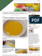Yema Confitada- Crema de Yema - Belenciaga Paso a Paso