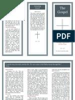 Gospel Tract Brochure Blank Address