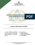 Relatorio Drogas Jan a Nov 2014 Cuiaba