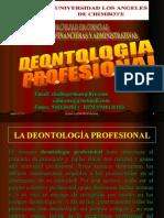 Deontologia Profesional en Nuestro Diario Actuar