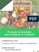 Producao de sementes organicas