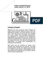 communion insert march 15, 2015