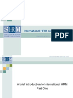 International HRM Presentation