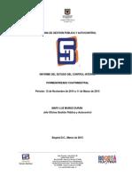 Informe del Estado de Control Interno Nov 2014 a Mar 2015