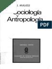 PENSAMIENO SIMBOLICO Marcel Mauss Sociologia y Antropologia