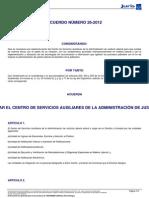 3. Reestructuracion Centro de Serv Aux Laboral 66069 ACUERDO 26-2012