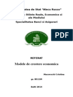 Modele de Crestere Economica