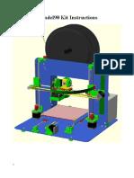 Mendel 90 3D printer Manual