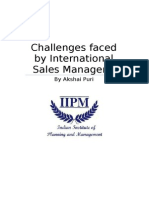 Challenges Faced by sales manager