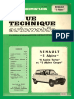 Estudio Tecnico Renault 5 ALPINE (Frances)