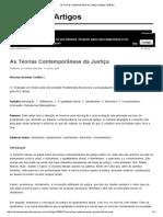 As Teorias Contemporâneas Da Justiça _ Artigos JusBrasil