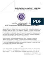 Oriental Bank Mediclaim Policy 09122014