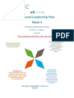 Assignment 3 Week 3 Personal Leadership Plan