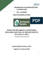 INDICE DE DESARROLLO SOSTENIBLE ARAUCA (2015)