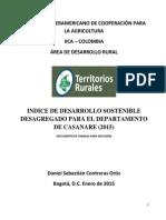 INDICE DE DESARROLLO SOSTENIBLE CASANARE (2015)