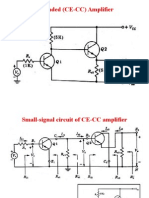 Cascaded (CE-CC) Amplifier