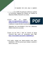 Carta Aberta Com Alteralçoes - 2303