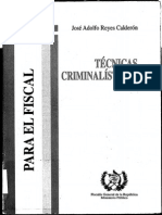 Técnicas Criminalísticas Para El Fiscal