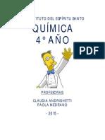 Cuadernillo 4TO AÑO QUIMICA