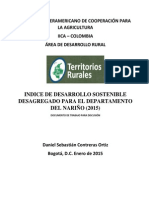 INDICE DE DESARROLLO SOSTENIBLE NARIÑO (2015)
