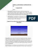 Composición y Estructura Vertical de La Atmósfera