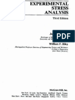 Experimental Stress Analysis Riley Dally