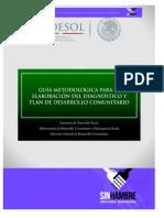 Guia Metodologica Para El Diagnostico y Plan de Desarrollo Comunitario.rev2