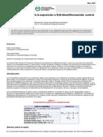 Evaluacion de la exposicion por DMF