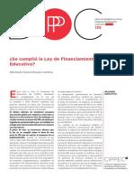 Se Cumplio La Ley de Financiamiento Educativo, Bezem, Mezzadra y Rivas