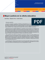 Mayor Justicia en La Oferta Educativa