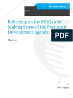Reflecting on the MDGs and Making Sense of the Post-2015 Development Agenda
