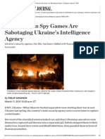 How Russian Spy Games Are Sabotaging Ukraine's Intelligence Agency - WSJ