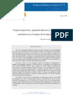 Coparticipacion y Equidad Educativa. Un Debate Pendiente en El Campo de La Educación. Mezzadra y Rivas, 2005