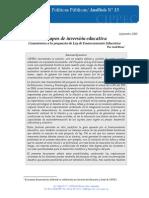 Tiempos de Inversión Educativa, Rivas, 2005
