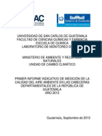 Primer Informe Monitoreo Deptal 2013 Final