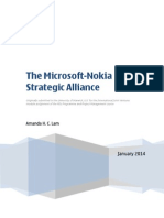 The Microsoft-Nokia Strategic Alliance
