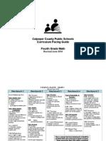 4th grade math curriculum guide june 2014