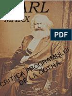 Karl Marx - Critica Programului de La Gotha