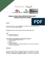 MANUAL PARA CARGA DE REPORTES ANALISIS Y CIERRE DE EVENTOS AVARMS (2).pdf