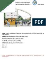 COMO TRABAJAR LA NOCIÓN DE PERTENENCIA Y NO PERTENENCIA  DE CONJUNTOS.docx