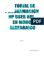 Tutorial HP UserRPL Modo Algebraicov1.2